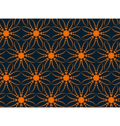 Abstract seamless pattern with flower-like figures vector image vector image