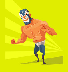 angry wrestler man character vector image vector image