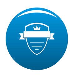 badge soldier icon blue vector image vector image
