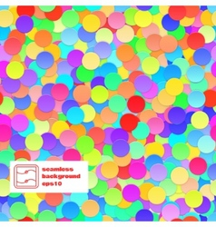 Confetti Seamless Background vector image vector image