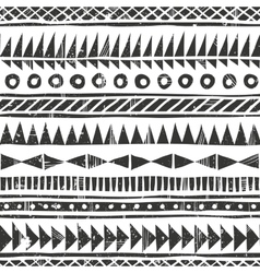 hand drawn tribal pattern Primitive vector image vector image