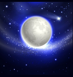 moon in the night sky vector image
