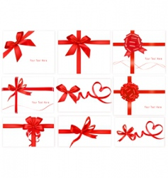 set with beauty red bows vector image vector image
