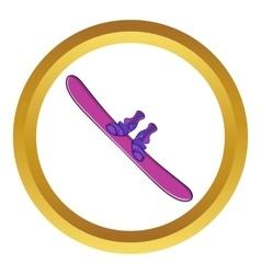 Snowboard sport equipment icon vector image