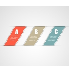 Torn paper banners Design template for vector image