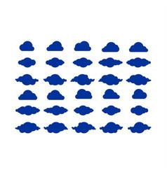 cloud icon logo set vector image vector image