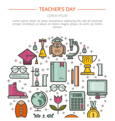 Concept of education vector