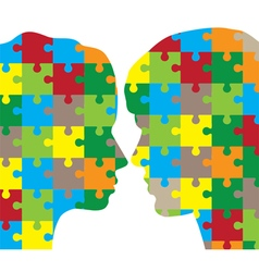 man and woman puzzle vector image