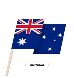 Australia Ribbon Waving Flag Isolated on White vector image