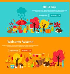autumn website banners vector image vector image