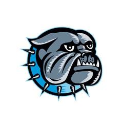 Bulldog Dog Head Mascot vector image vector image