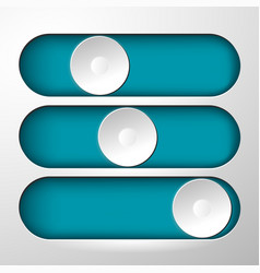 buttons for switching symbol vector image vector image