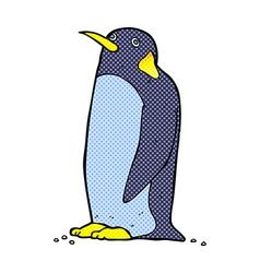 comic cartoon penguin vector image
