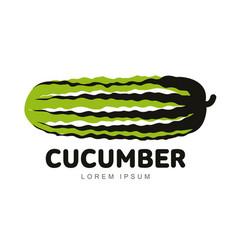 cucumber logo vector image vector image