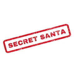 Secret Santa Rubber Stamp vector image vector image