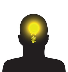 lightbulb man vector image vector image