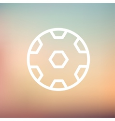 Soccer ball thin line icon vector image