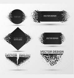 Abstract explosion of black glass vector