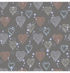 abstract heart pattern vector image