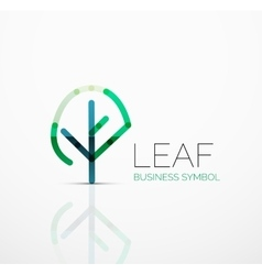 Abstract logo idea eco leaf nature plant vector