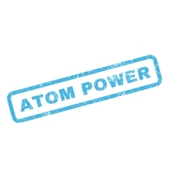 Atom Power Rubber Stamp vector image