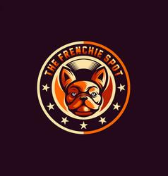 awesome cool dog logo design vector image
