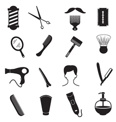 Barber Tools and Men Hairstyle Equipments vector