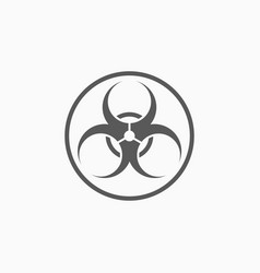 Biohazard icon vector