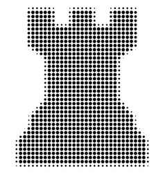 Black dot chess tower icon vector