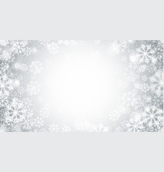 blurred motion swirling snow round frame vector image