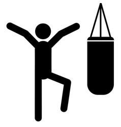 boxer icon vector image