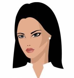 brunette vector image