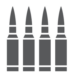Bullets glyph icon ammunition and army caliber vector