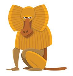 Cartoon baboon vector