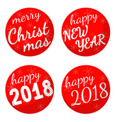 christmas and 2018 new year holiday themed vector image