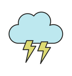 cloud icon with lightning vector image