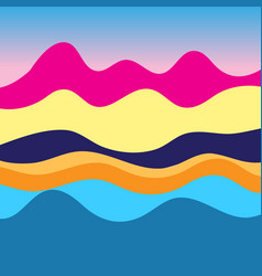 colorful graphic landscape vector image
