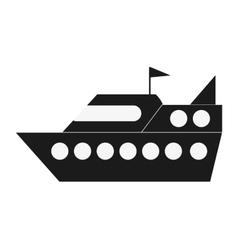 Cruise ship icon vector