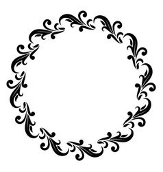 Decorative round frame vector