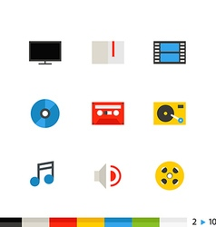 different flat design icons vector image
