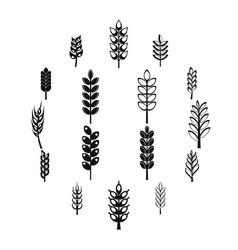 Ear corn icons set simple style vector