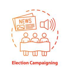 Election concept icon election campaigning idea vector
