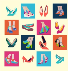 flat shoes Spring and Summer Shoes vector image