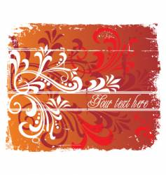 Floral grunge background copy space vector