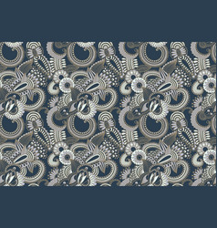 flower seamless pattern paisley indian design vector image