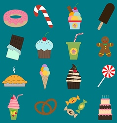 Food dessert icons set vector image