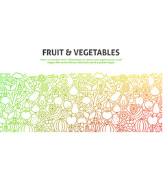 Fruit and vegetables concept vector
