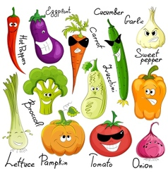 Funny vegetable cartoon isolated vector