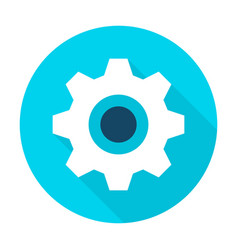 Gear wheel flat circle icon vector