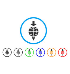 global safety rounded icon vector image vector image